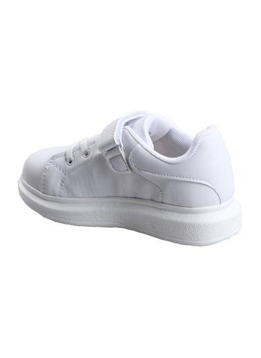 Cool Beyaz Kız Çocuk Günlük Sneaker Spor Ayakkabı Beyaz